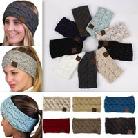 DHL Free Shipment 21 Colors Knitted Crochet Headband Women W...