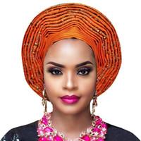 اسو أوكي headtie وجيلي النيجيري الأفريقي headtie السيارات جيلي النساء والتفاف الرأس سيدة عمامة لحضور حفل زفاف
