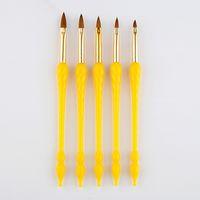 5 Größen Nail Art Gourd Pinsel Skulptur Kristall Builder Stiftspitzen Zeichnung Malerei Blume UV Gel Polish Acryl Maniküre Werkzeuge Set