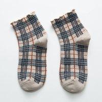 10 زوجا / الكثير 5 اللون ربيع جديد للسيدات القطن سوك موضة مريحة منقوشة الياباني جوارب قصيرة مصمم جورب بالجملة ZJJ341