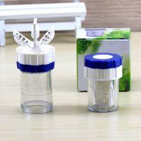 Novo estilo Manualmente Um Lente De Contato De Plástico Limpo Arruela Lentes De Limpeza Caso Ferramenta