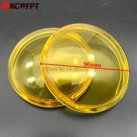 2 pezzi diametro rotondo 90mm fendinebbia giallo vetro antinebbia vetro temperato per Citroen C3 C4 C5 C6 C-Crosser Jumpy Xsara Berlingo