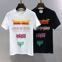 Men' s T- shirt personality color letter printing comfort...
