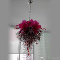Rose Red Borosilicate отличные ручные вручную стеклянные лампы хрустальные люстры элегантный декор лампы искусства дизайн глазурь для гостиной и спальни