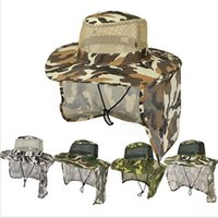 Camouflage Hat Boonie Bucket hats Mesh Military cap Ear Flap...