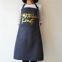 جديد المئزر خارج شواء تنظيف المطبخ كبار المريلة للنساء الرجال الطبخ مطعم نادلة مخصص طباعة الشعار