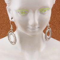 Pendientes de anillo de anillo de salvamento náutico Pendientes de peces de plata Gancho de la oreja de 20 pares / lote Antique Silver Chandelier Jewelry DIY 21.8x40mm A-418E