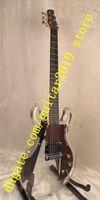 Cina 6 corde chitarra corpo acrilico e manico in acero argento hardware palissandro guardia chitarra elettrica spedizione gratuita