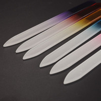 Bunte Glasnagelfeilen haltbare Kristallakt Nail Buffer NailCare Nail Art Werkzeug für Maniküre UV Polish Tool 6 Farbe EEA1626