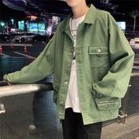 ZOGAA 2019 Autunno Nuovo stile giapponese Tooling Giacche da uomo Trend Youth Cappotti casual allentati Giacche moda uomo tinta unita