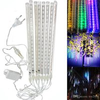 8 Adet / takım Kar Yağışı LED Şerit Işık Noel ışıkları Yağmur Tüpü Meteor Yağmuru Yağmur LED Işık Tüpleri 100-240 V AB / ABD Plug
