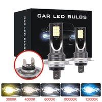 2 개 미니 H4 H7 LED 자동차 헤드 라이트 안개등 키트 6000K 3000K 8000K 72W 12000LM H1 H11 9005 개 HB3 H8 H9 12000K 전구 자동차 액세서리