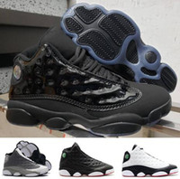 2019 New 13 Cap and Gown 13s Atmosphere Grey Con Box New Black uomini Scarpe da basket Athletic Sport Sneakers Spedizione gratuita
