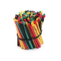 Muke 120pcs / pack Heizrohr Adhesive Kabelschutzhülle Elektrische Draht-Verpackungs-Kunststoffkragen wärmeschrumpfbaren Gaine Shrink
