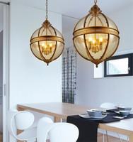 Vintage Loft Globe Pendentif Pendentif Lumières en fer forgé Shade Verre Ronde Cuisine Cuisine Dinning Bar de table Luminaire Luminaire suspendue Lampes suspendues