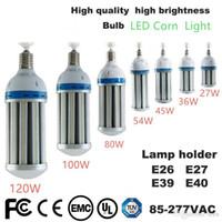 parcheggio lampadina del cereale del LED 27W 36W 45W 54W 80W 100W 120W E26 E27 E39 E40 Garden Warehouse illuminazione AC 85-265V