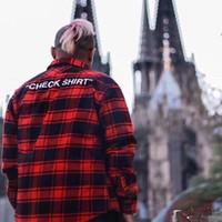 Vente 2019 Noir À En De Chemise Partir Vrac Carreaux Rouge Gros rwqFr70