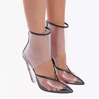 Hot Sale-2019 l'été Les nouveaux coins du commerce extérieur de grande taille sexy pointu talons hauts sandales transparentes