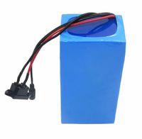 Freies Verschiffen 48V elektrische Fahrradbatterie 48V 30AH Lithium-Roller-Batterie 2000W Ebike-Batterien 50A BMS mit Ladegerät