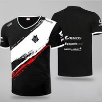 Personalizar partido de la liga de G2 traje de deportes electrónicos del equipo Leyendas 2019 de manga corta G2 Jersey del juego de la camiseta uniforme informal tes de las tapas