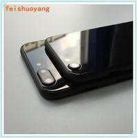 Pour iPhone 7 7G 7P plus Retour couvercle du boîtier comme l'iPhone 8 Style de verre Métal Retour de remplacement avec des boutons couverture
