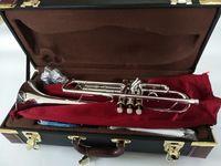 Baha Stradivarius Top Trompette LT197S-99 Musique Instrument BB Trompette Gold Plated Grade Grade Musique Gratuit