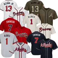 13 Ronald Acuña Jr. Jersey 10 Chipper Jones 44 Hank Aaron 5 Freddie Freeman 3 Murphy jerseys de béisbol