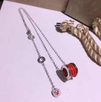 Fashion Noble Ceramic Necklace Save the children series Necklace Steel Printed Lady's Necklace Red Ceramics style