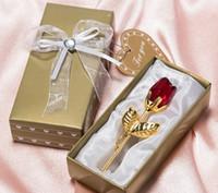 로맨틱 웨딩 선물 여러 가지 빛깔의 크리스탈 로즈 호의 다채로운 상자 파티 호의 베비 샤워 기념품 장식품 손님