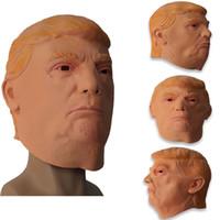 Amerikan Başkanı 2020 Trump Maske Trump Peruk sızmasına Hillary Parti 3 stilini Lateks Malzemeleri EMS XD22889 Maske