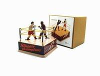 NB Tinplate Retro Wind-Up-Boxer kämpfen im Ring Punches, Aufziehspielzeug, Nostalgisch Ornament, Kindergeburtstags-Weihnachtsgeschenk, Collect, MS381,2-2