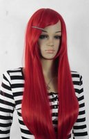 FREE SHIPPING+ + + Fashion Long Straight Red Women Female La...
