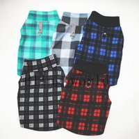 Plaid Dog Clothes Fleece Small Dog Vest with Buckle Warm Pup...