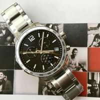 T095 luxury men's watch six-pin timing quartz men's watch scratch-resistant sapphire glass mirror size 42mm steel strap buckle