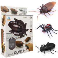 جديد غريب التحكم عن الصرصور العنكبوت النمل محاكاة صعبة الأشعة rc الحيوانات اللعب للأطفال هدية عيد الميلاد C1855