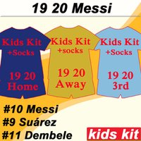 19 20 MESSI GRIEZMANN Kids kit Soccer Jerseys RAKITIC SUAREZ...