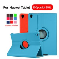 Plein Rotating Smart Cover Protect Support Case Pour Huawei flip MediaPad C5 M6 M5 10,8 8,4 Honor T5 10,0 M3 Lite