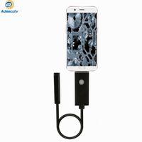 Endoskop 7mm Linse 2m Länge USB-Rohrkamera 6pcs LEDs Wasserdichte IP67 Inspektionskameras für PC und Android-Telefon 720P