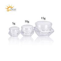 5G 10G 15G Vazio Garrafa Cosmética Amostra Cuidados com Cuidados de Pele Creme Potenciômetro Diamante Forma Cosméticos Embalagem Recipiente