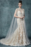 New Arrival Lace Mermaid Wedding Dresses 2019 Vintage Spaghe...