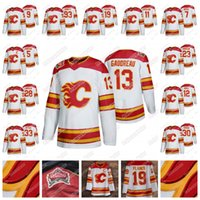 Jugend Calgary Flames 2019 Heritage Classic Jersey Matthew Tkachuk Sean Monahan Sam Bennett Johnny Gaudreau Mikael Backlund Lanny McDonald