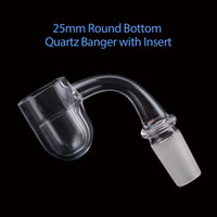 Volcanee Round Bottom Quartz banger with quartz insert bowls...
