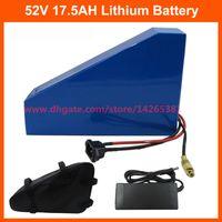 1000W 52v литиевая батарея 51.8 V 17.5 AH аккумулятор 52V 18ah треугольник ebike батареи использовать INR 35E 3500mah сотовый 30A BMS с сумкой