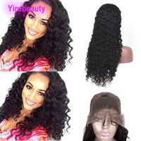 Malaisienne de cheveux humains 13x4 perruques avant de dentelle humide et onduleux 8-30inch Couleur Vague naturelle Pré Pincées Virgin Hair Products bande réglable