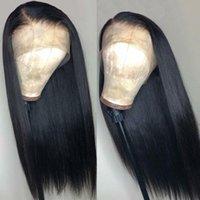 ファッション女性のための柔らかいブラジルの黒い長い絹のようなシュートキュアの完全かつらの人間の髪の耐熱性のあるひきの合成レースフロントかつら