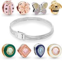 2019 Spring Reflexions multi serpent Bracelets chaîne convient à tous les Charms Pandora Reflexions Argent 925 Perles clip mousseux originales perles en vrac