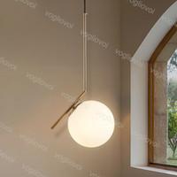 현대 펜 던 트 램프 유리 공 스타일 E27 200mm 300mm 거실 침실 미니멀리스 레스토랑 빛 북유럽 의류 DHL