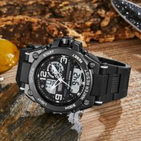 OHSEN Digital Quartz Sport Men Wristwatch Waterproof White D...