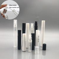 2ML 3ML 4ML 5ml nachfüllbar feine Nebel Mini Sprühflaschen Zerstäuberpumpen für Parfüm, Lotion, Reise-leere Plastikflaschen W / Transfer Tool