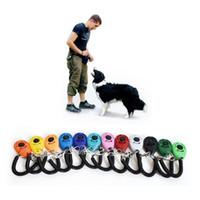 Hundetraining Click Clicker Agility Training Trainer Hilfe Hundetraining Gehorsam Zubehör mit Teleskopseil und Haken Mix 12 Farben